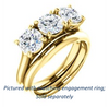 Cubic Zirconia Engagement Ring- The Londyn (Customizable Triple Round Cut 3-stone Style)