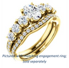 Cubic Zirconia Engagement Ring- The Lorelei (Customizable Enhanced 7-stone Oval Cut Style with Pavé Band)