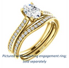Cubic Zirconia Engagement Ring- The Luci Swan (Customizable Decorative-Pronged Oval Cut with Pavé Band)