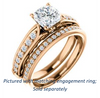 Cubic Zirconia Engagement Ring- The Martha (Customizable Cushion Cut Setting with Pavé Three-sided Band and Peekaboos)