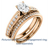 Cubic Zirconia Engagement Ring- The Martha (Customizable Oval Cut Setting with Pavé Three-sided Band and Peekaboos)