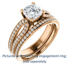 Cubic Zirconia Engagement Ring- The Monet (Customizable Cushion Cut Design with Wide Split-Pavé Band)