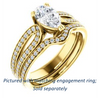 Cubic Zirconia Engagement Ring- The Monet (Customizable Pear Cut Design with Wide Split-Pavé Band)