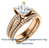 Cubic Zirconia Engagement Ring- The Monet (Customizable Princess Cut Design with Wide Split-Pavé Band)