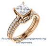 Cubic Zirconia Engagement Ring- The Monikama (Customizable Princess Cut Thin Band Design with Round Accents)
