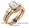 Cubic Zirconia Engagement Ring- The Naomi (Customizable Bezel-set Emerald Cut Design with Dual Baguettes & Pavé Band)