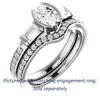 Cubic Zirconia Engagement Ring- The Naomi (Customizable Bezel-set Oval Cut Design with Dual Baguettes & Pavé Band)