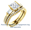 Cubic Zirconia Engagement Ring- The Naomi (Customizable Bezel-set Princess Cut Design with Dual Baguettes & Pavé Band)