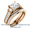 Cubic Zirconia Engagement Ring- The Portia (Customizable Princess Cut 15-stone Design)