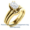 Cubic Zirconia Engagement Ring- The Reese (Customizable Emerald Cut Solitaire with Grooved Band)