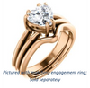 Cubic Zirconia Engagement Ring- The Reese (Customizable Heart Cut Solitaire with Grooved Band)
