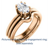 Cubic Zirconia Engagement Ring- The Reese (Customizable Oval Cut Solitaire with Grooved Band)