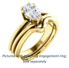 Cubic Zirconia Engagement Ring- The Reese (Customizable Pear Cut Solitaire with Grooved Band)