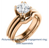 Cubic Zirconia Engagement Ring- The Reese (Customizable Princess Cut Solitaire with Grooved Band)