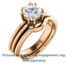 Cubic Zirconia Engagement Ring- The Reese (Customizable Round Cut Solitaire with Grooved Band)