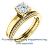 Cubic Zirconia Engagement Ring- The Rosalina (Customizable Cushion Cut with Three-sided Pavé Band)