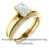 Cubic Zirconia Engagement Ring- The Rosalina (Customizable Radiant Cut with Three-sided Pavé Band)