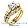 Cubic Zirconia Engagement Ring- The Rosetta (Customizable Asscher Cut Enhanced 5-stone Design with Pavé Band)