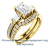 Cubic Zirconia Engagement Ring- The Rosetta (Customizable Emerald Cut Enhanced 5-stone Design with Pavé Band)