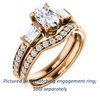 Cubic Zirconia Engagement Ring- The Rosetta (Customizable Oval Cut Enhanced 5-stone Design with Pavé Band)