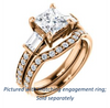 Cubic Zirconia Engagement Ring- The Rosetta (Customizable Princess Cut Enhanced 5-stone Design with Pavé Band)
