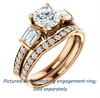 Cubic Zirconia Engagement Ring- The Rosetta (Customizable Round Cut Enhanced 5-stone Design with Pavé Band)