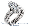 Cubic Zirconia Engagement Ring- The Rosie (Customizable Marquise Cut Style with Floral-Inspired Halo and Extra-Thin Pavé Band)