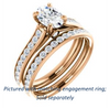 Cubic Zirconia Engagement Ring- The Tabitha (Customizable Oval Center with Round Channel)