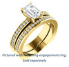 Cubic Zirconia Engagement Ring- The Tesha (Customizable Emerald Cut Design with Pavé Band & Euro Shank)