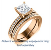 Cubic Zirconia Engagement Ring- The Tesha (Customizable Princess Cut Design with Pavé Band & Euro Shank)