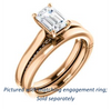 Cubic Zirconia Engagement Ring- The Tonja (Customizable Emerald Cut Semi-Solitaire with Dual Three-sided Pavé Band)