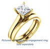 Cubic Zirconia Engagement Ring- The Tonja (Customizable Princess Cut Semi-Solitaire with Dual Three-sided Pavé Band)