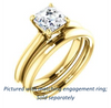 Cubic Zirconia Engagement Ring- The Ursula (Customizable Asscher Cut High-Set Solitaire)