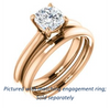 Cubic Zirconia Engagement Ring- The Ursula (Customizable Cushion Cut High-Set Solitaire)