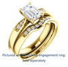Cubic Zirconia Engagement Ring- The Ximena (Customizable Cathedral-Set Emerald Cut 7-stone Design)