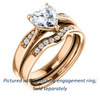 Cubic Zirconia Engagement Ring- The Ximena (Customizable Cathedral-Set Heart Cut 7-stone Design)