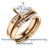 Cubic Zirconia Engagement Ring- The Ximena (Customizable Cathedral-Set Princess Cut 7-stone Design)
