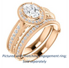 Cubic Zirconia Engagement Ring- The Zöe (Customizable Vintage Oval Cut Greek Goddess Design)