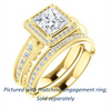 Cubic Zirconia Engagement Ring- The Zöe (Customizable Vintage Princess Cut Greek Goddess Design)