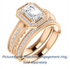 Cubic Zirconia Engagement Ring- The Zöe (Customizable Vintage Radiant Cut Greek Goddess Design)