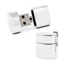 Men's Cufflinks- Polished Silver Ovals featuring Wifi Internet Hotspot and 2GB USB Flash Drive (Designer, Ravi Ratan)