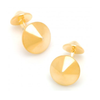 Men's Cufflinks- Yellow Gold Plated Sterling Silver Double Spikes