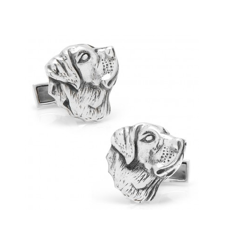 Men's Cufflinks- Sterling Silver Labrador Dogs