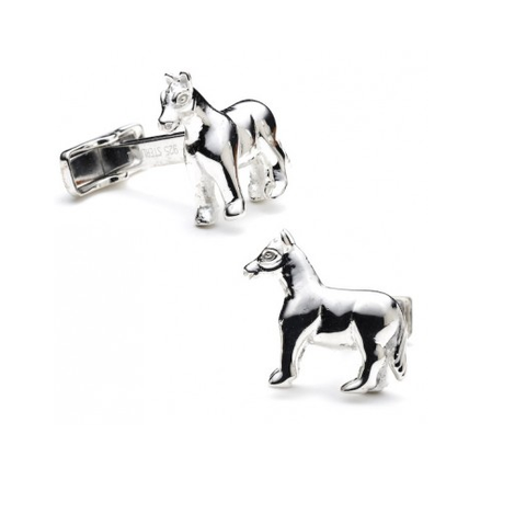 Men's Cufflinks- Sterling Silver Horses
