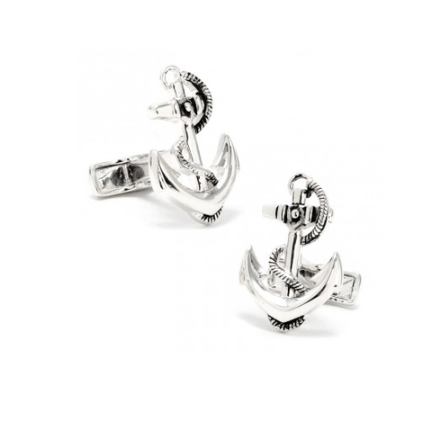 Men's Cufflinks- Sterling Silver Boat Anchors