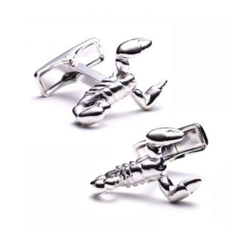 Men's Cufflinks- Sterling Silver Scorpions