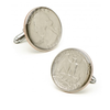 Men's Cufflinks- Silver Plated Authentic U.S. Quarter Coin Jewelry