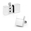 Men's Cufflinks- Silver Plated 4GB USB Flash Drive