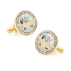 Men's Cufflinks- Armed Forces Gold Plated with Enamel (Army)