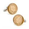 Men's Cufflinks- Silver Plated Indian Head Penny Coin Jewelry
